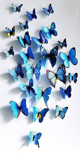 amazon com 3d blue butterfly wall stickers mural decal