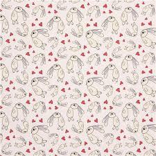 Light Cotton Fabric Light Cream U0027knuffle Bunny U0027 Heart Rabbit Cloud 9 Organic Cotton