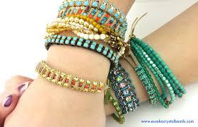 diy beaded cord bracelet images Easy rhinestone chain bracelet tutorial 2015 eureka crystal jpg