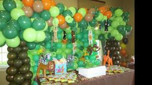 safari decorations balloons color vibrant green