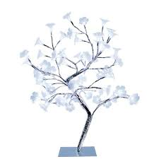 simple designs 17 72 in morning glory led lighted silver morning glory led lighted silver decorative tree lamp nl2007 chr the home depot