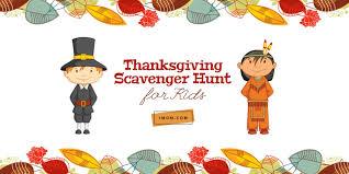 thanksgiving scavenger hunt for thanksgiving