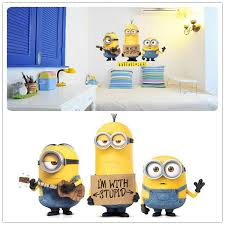 2015 Newest Minions Wall Stickers Cartoon Despicable Me Stuart