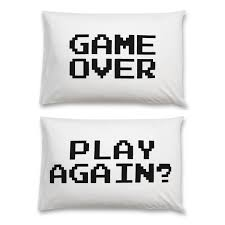 Childrens Bedroom Pillows Pillow Case Game Over Play Again Kids Rooms Pinterest