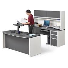 U Shape Desks Adjustable Height Desk Shop For An Adjustable Desk At Nbf