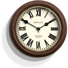 newgate the kings cross station wall clock brown homeware