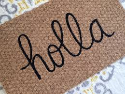 holla welcome mat witty and fun doormats for fun people
