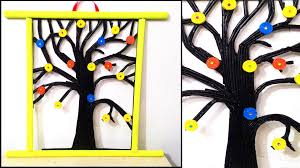 Hanging Pictures On Wall by Newspaper Tree Wall Hanging Diy Wall Hanging Youtube