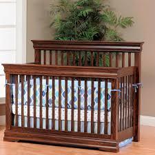 Converter Crib Amish Baby Furniture Raised Panel Mission Heavy Duty Crib Oak 14