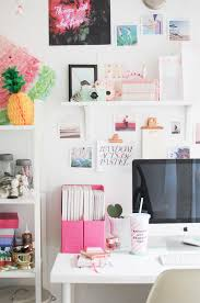Office Decorating Ideas Pinterest by Creative Workspace Home Office With Pops Of Pink Room