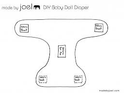 made by joel diy baby doll diaper with fabric poo