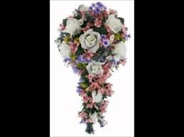 Silk Wedding Flowers Wildflower Cascade Silk Wedding Bouquet Youtube