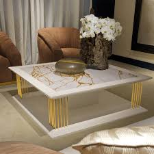 marble gold coffee table modern marble gold square coffee table juliettes interiors