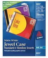 avery design pro avery standard slimline inserts matte 20 inserts