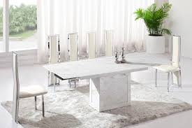 marble dining room table and chairs white marble dining table dining room cintascorner faux white