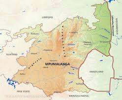 Rivers Of Africa Map by Mpumalanga Map South Africa
