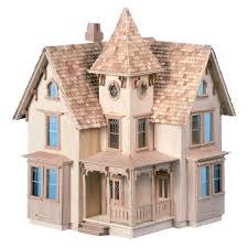 Dollhouse Floor Plans Greenleaf Fairfield Dollhouse Kit 1 2 Inch Scale Hayneedle