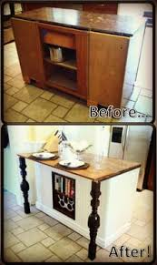 Kitchen Island Out Of Dresser - kitchen island from a door so easy and people are always throwing
