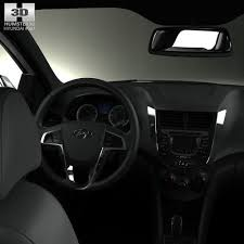 hyundai accent model hyundai accent rb with hq interior 3d model