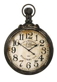 old fashioned antique oversized pocket watch wall clock 39