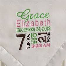 personalization baby gifts personalized embroidered baby blanket with satin trim