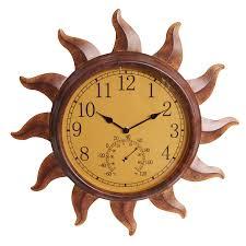 Garden Wall Clocks by Perfect For Our Pool Garden Treasures Indoor Outdoor Rustic Sun