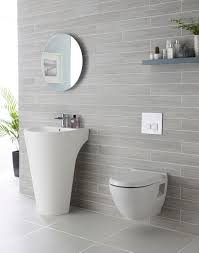 we adore this white and grey bathroom complete with lavish basin grey tile bathroom complete with lavish basin at least 2 shades of grey here