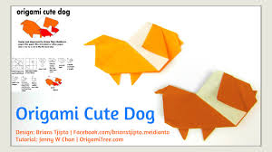 origami dog origami cute dog brians tjipto origami paper