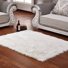 Sheepskin Area Rugs Wendana Faux Sheepskin Area Rug Silky Shag Rug White