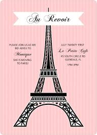 eiffel tower invitations pink eiffel tower farewell party invite going away invitations