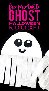 free printable ghost halloween craft printable crush