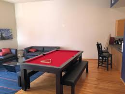 Convertible Pool Table by Sleek Convertible Pool Tables Dining Room Pool Tables By