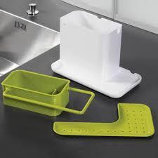 Green Kitchen Utensil Holder Kitchen Sink Utensil Holder Drainer Plastic Rack Organizer Caddy