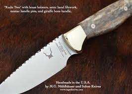 custom m g muhlhauser u0026 sohn kudu two model knife