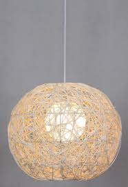 special spike ball pendant lights rattan garden restaurant lamp