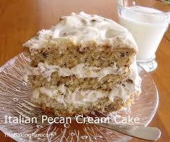 italian pecan cream cake recipe thebakingpan com