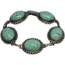 bracelet silver turquoise images Vintage sterling silver turquoise bracelet by danecraft kenyon jpg