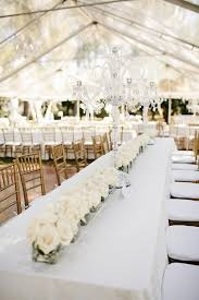 white wedding the all white with tables and white table