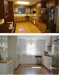 Resurfaced Kitchen Cabinets Before And After Best 25 Diy Cabinet Refacing Ideas On Pinterest Updating