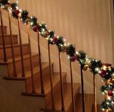 staircase garland ideas best design photo for