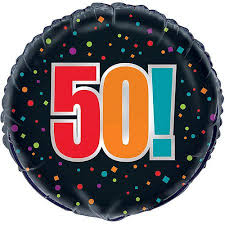50th birthday balloons 18 foil 50th birthday cheer balloon walmart