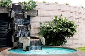Backyard Waterfall Ideas by Lawn U0026 Garden Luxury Modern Concrete Backyard Waterfall Design