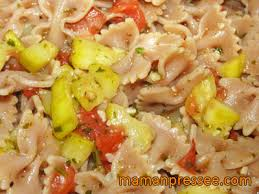 cuisine familiale rapide recette rapide de pâtes aux légumes maman presséemaman pressée