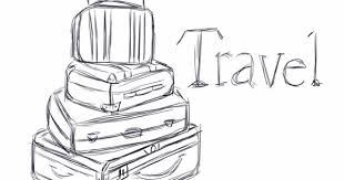 quick ipad sketch of some suitcases my travel project