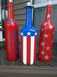 happy fourth of july collection painted wine bottles pinterest