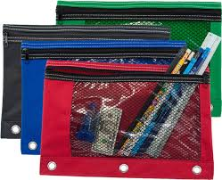 pencil pouches 3 ring pencil pouch with mesh window gpencil
