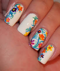inspired floral nail art set in lacquer
