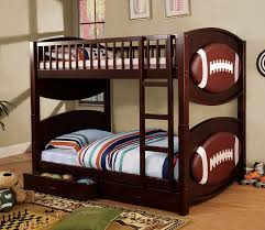 Pottery Barn Camp Bunk Bed Amazon Com Furniture Of America Football Bunk Bed With 2 Drawers