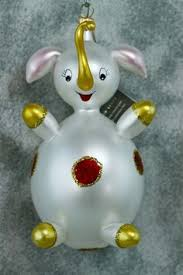 vintage de carlini italy elephant christmas ornament