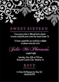 sweet sixteen birthday invitation wording sweet 16 birthday